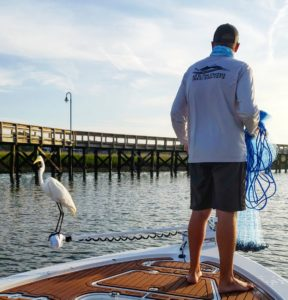 Deep Sea Fishing Charters - Fred made a pit stop for some free bait.