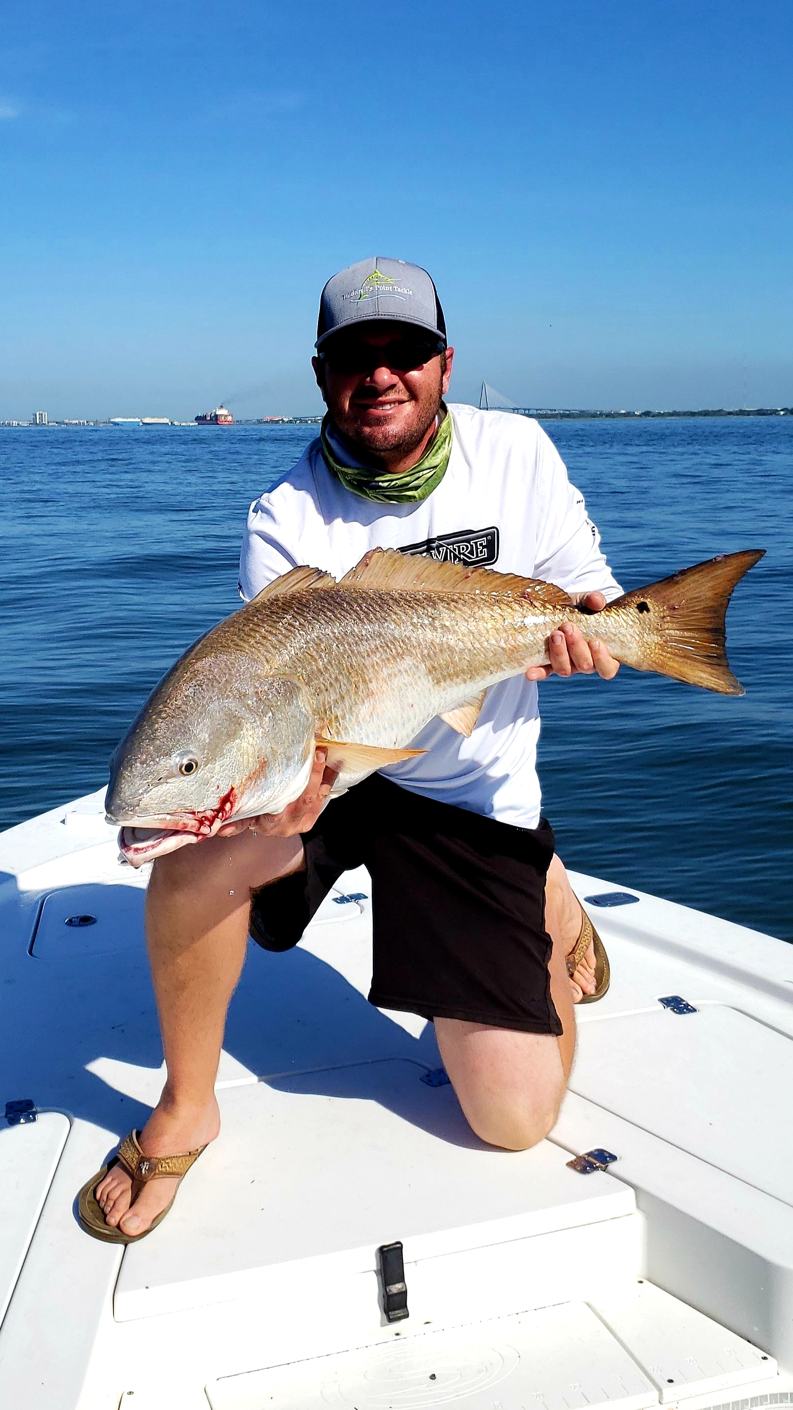 Bull Red Drum Fishing in Charleston SC, with All In One Charters, Charleston top fishing charter